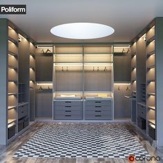 SENZAFINE walk-in closet from Poliform
