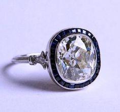 ct Kissen Diamant-Verlobungsring Art-Deco-Saphir-Halo EGL zertifiziert 18 k ., ct Kissen Diamant-Verlobungsring Art-Deco-Saphir-Halo EGL zertifiziert 18 k . Cushion Cut Diamond Ring, Cushion Cut Diamonds, Diamond Cuts, Cushion Ring, Bling Bling, Antique Jewelry, Vintage Jewelry, Vintage Rings, Vintage Art
