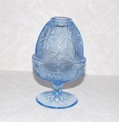 Vintage Ice Blue Tiara Fairy Lamp Light by StuffAndJunque on Etsy, $30.00
