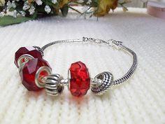 Charm Factory Beaded Ruby Bracelet