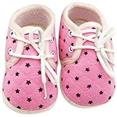 Voberry® Baby Girl's Soft Cotton Prewalker Soft Sole Non-slip Sneaker (0~6 Month, pink)
