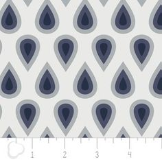 Camelot Cottons House Designer - Coraline - Drops in White