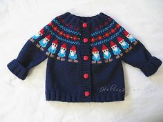 Heliina's Gnome Yoke Cardigan! I know a little gnome to make this for. Lord, please give me time.