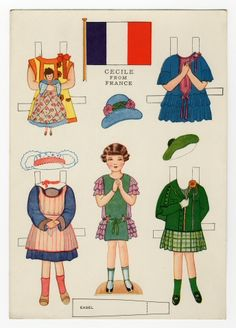 78.6430: Little Americans from Many Lands-Cecile from France   paper doll   Paper Dolls   Dolls   National Museum of Play Online Collections   The Strong