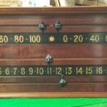 Orme antique snooker scoreboard.Mahogany.B506 | Browns Antiques Billiards and Interiors.