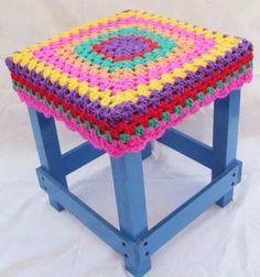 Sofa Arm Covers, Stool Covers, Crochet Home, Love Crochet, Knit Crochet, Crochet Designs, Crochet Patterns, Crochet Furniture, Cotton Cord