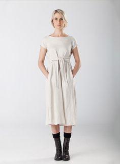 Off white dress by Jane Sews #fashion