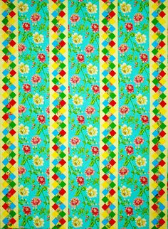 """""""Garden Paths"""" is a wonderful pattern for those large prints that you just hate to cut into tiny pieces. Directions are offered for quilt sizes throw, twin, full, queen, and king. From Happy Stash Quilts."""