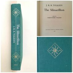 JRR Tolkien - The Silmarillion - Fantasy Books - Best Selling Books - Vintage Book - Classic Books - The Hobbit Book - Lord of the Rings by AbundantArtsVintage on Etsy https://www.etsy.com/listing/234271122/jrr-tolkien-the-silmarillion-fantasy