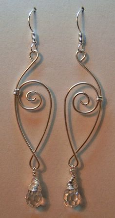 Sterling Silver jewelry handmade wire wrapped earrings  hammered silver handcrafted silver wire jewelry  marquis pointed oval leaf shape