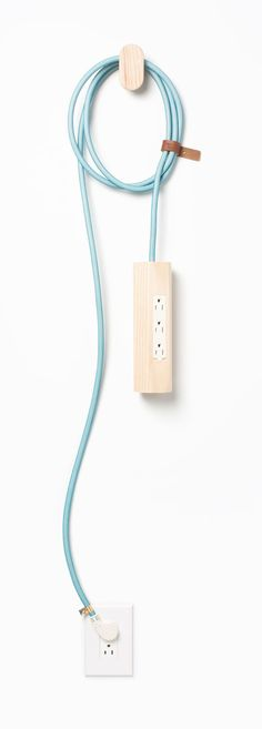 Wooden / pastel extension cord