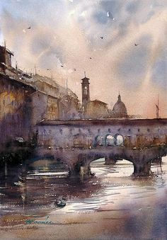 Sunset, Florence, Italy II by Keiko Tanabe. https://ktanabefineart.com