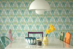 Moderne retro Kitchen Wallpaper, Of Wallpaper, Inspiration Wall, Interior Inspiration, Rustic Laundry Rooms, Kitchen Decor Themes, Home Decor, Vintage Interior Design, Dream Decor
