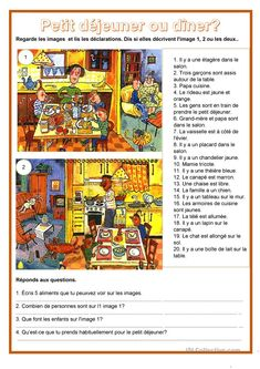 Basic French Words, French Worksheets, French Lessons, Teaching French, Learn French, Vocabulary, Images, Learning, Conversation