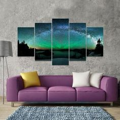 Scandinavian Milky Way Multi Panel Canvas Wall Art