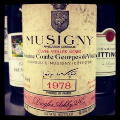 Musigny Domaine Comte Georges de Vogue 1978 - ok I haven't exactly had this vintage but a girl can dream!!