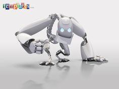 Gloss white robot