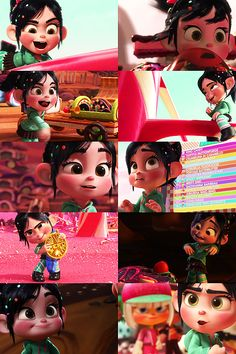 Collage of Vanellope Von Schweetz Wreck it Ralph -- tumblr