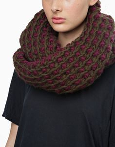 Winners Circle Scarf Kit by Wool and the Gang Learn How To Knit, How To Purl Knit, Knit Cowl, Knit Crochet, Knitting Kits, Knitting Ideas, Yarn Inspiration, Circle Scarf, Quilt Stitching