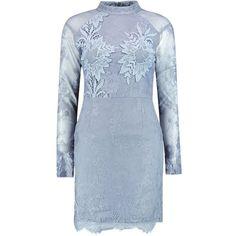 Boohoo Boutique Fi Eyelash Lace Crochet Bodycon Dress | Boohoo (3.705 RUB) ❤ liked on Polyvore featuring dresses, macrame dress, blue dress, bodycon dress, blue crochet dress and body conscious dress