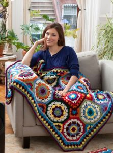 In Love With Colour Afghan with Video Tutorials  - post by Micky from the Crochet Crowd