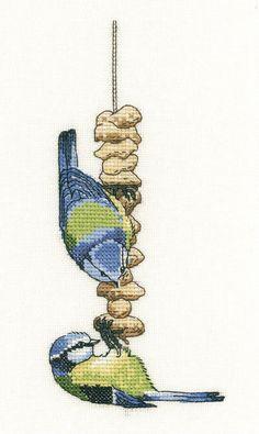 Blue Tits Cross Stitch Kit