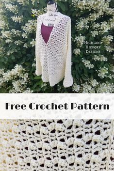 Crochet the August's End Sweater with this free Intermediate level pattern. Customize the sweater to have long or short sleeves. and don't sew up centre front seam and place a hook and eye and you have a cardigan. Perfect for 3 season wear! Crochet Fall, Crochet Woman, Free Crochet, Knit Crochet, Crochet Tops, Tunisian Crochet, Crochet Stitches, Crochet Jumper, Crochet Sweaters
