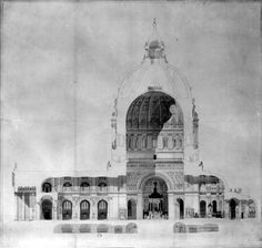 Project drawing for a monumental cathedral