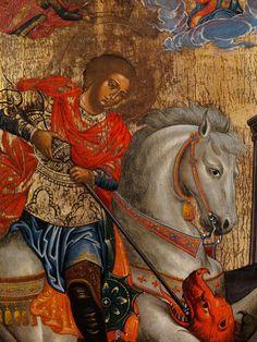 Ikone - Hampel Fine Art Auctions Saint George And The Dragon, Renaissance Kunst, Byzantine Art, Fine Art Auctions, Albrecht Durer, Art Icon, Orthodox Icons, Angel Art, Russian Art