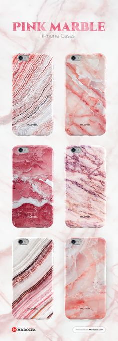 Pink Marble iPhone 7 Cases by #Madotta View more designs at https://madotta.com/collections/marble-iphone-cases/