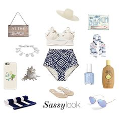 """Navy as The Ocean"" by aeren22 on Polyvore featuring Essie, Garden Trading, Jennifer Ouellette, Karen Kane, ArteHouse, Sun Bum, Lem Lem, Monsoon, Gucci and Casetify"