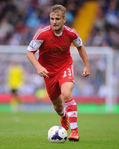~ Luke Shaw of Southampton FC against West Brom ~ Football Soccer, Football Players, Southampton Fc, West Brom, Premier League, Athletes, United Kingdom, Saints, English