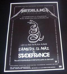 Metallica Repro Concert Poster Stade de France 2012 European Black Album Tour   eBay