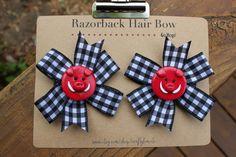 Set of 2 Arkansas Razorback Hair Bows