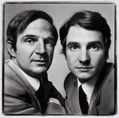 François Truffaut and Jean-Pierre Leaud, film director and actor, Paris. June 20, 1971 by Richard Avedon.