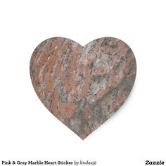 Pink & Gray Marble Heart Sticker