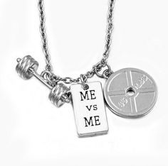 Get this Gym Fitness Weightlifting Strength Charm Necklace and let the world… Workout Gear, Gym Workouts, Love Fitness, Gym Fitness, Crossfit Gear, Make A Gift, Barbell, Weight Lifting