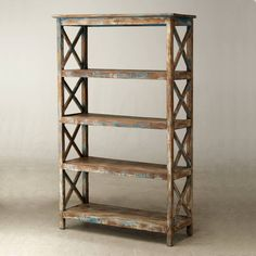 Tall footwear wire mesh shelving   metal mesh   Pinterest   Wire     Five tier cross side wooden shelving   Vintage Shelving   Andy Thornton
