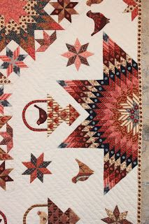 Close ups of fabric and quilting at Brouage.