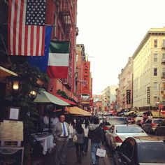 Mulberry St. is full of great italian restaurants and cafes