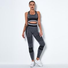 Fitness Yoga Suit High Workout Sports Bra High Waist Legging Gym - TD Mercado Shirts For Leggings, Mesh Leggings, Gym Leggings, Push Up Workout, Yoga Bra, Fitted Suit, No Equipment Workout, Fitness Equipment, Bra Tops