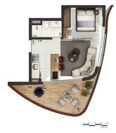 Studio Floor Plans, Hotel Floor Plan, Modern House Floor Plans, Small House Plans, House Floor Design, Tiny House Design, Home Building Design, Home Design Plans, Hotel Bedroom Design
