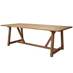 This looks very much like my old table I have in my studio...hmmmmm it may need to come out and play in the dining room very soon! Teak Harvest Table #serenaandlily