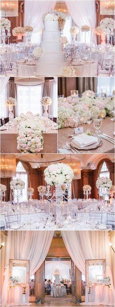 Featured: Blush Wedding Photography; Glamorous wedding reception idea