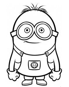 Stuart The Minion Coloring Pages.gif