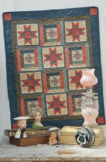 Everlasting Star - Small Star Quilt - Pattern in Little Quilts in the Coop Two by The Little Red Hen