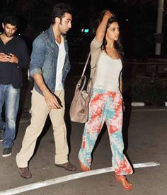 Ranbir Kapoor with Deepika Padukone, snapped at an airport -