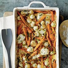 Roasted Root Vegetables with Sorghum and Cider by Cooking Light