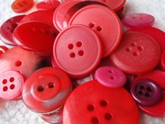 Red Button Mix 1030mm 3050 Buttons by Spasojevich on Etsy, $2.20