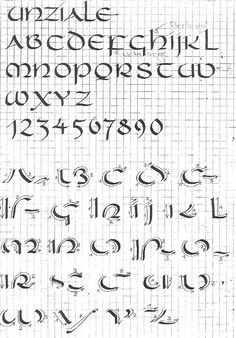Calligraphie onciale.